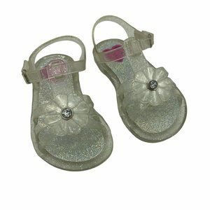 Flowers By Zoe Sparkle Glitter Jelly Sandals Sz 8